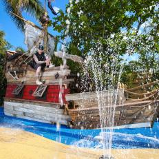 Pirate Ship Splash Pad From The Vanilla Ice Project