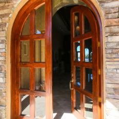 Rustic Front Door From The Vanilla Ice Project