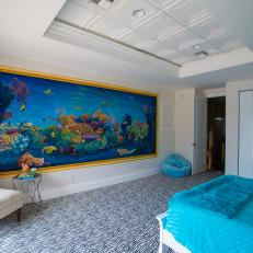 Fun Ocean-Themed Bedroom From The Vanilla Ice Project