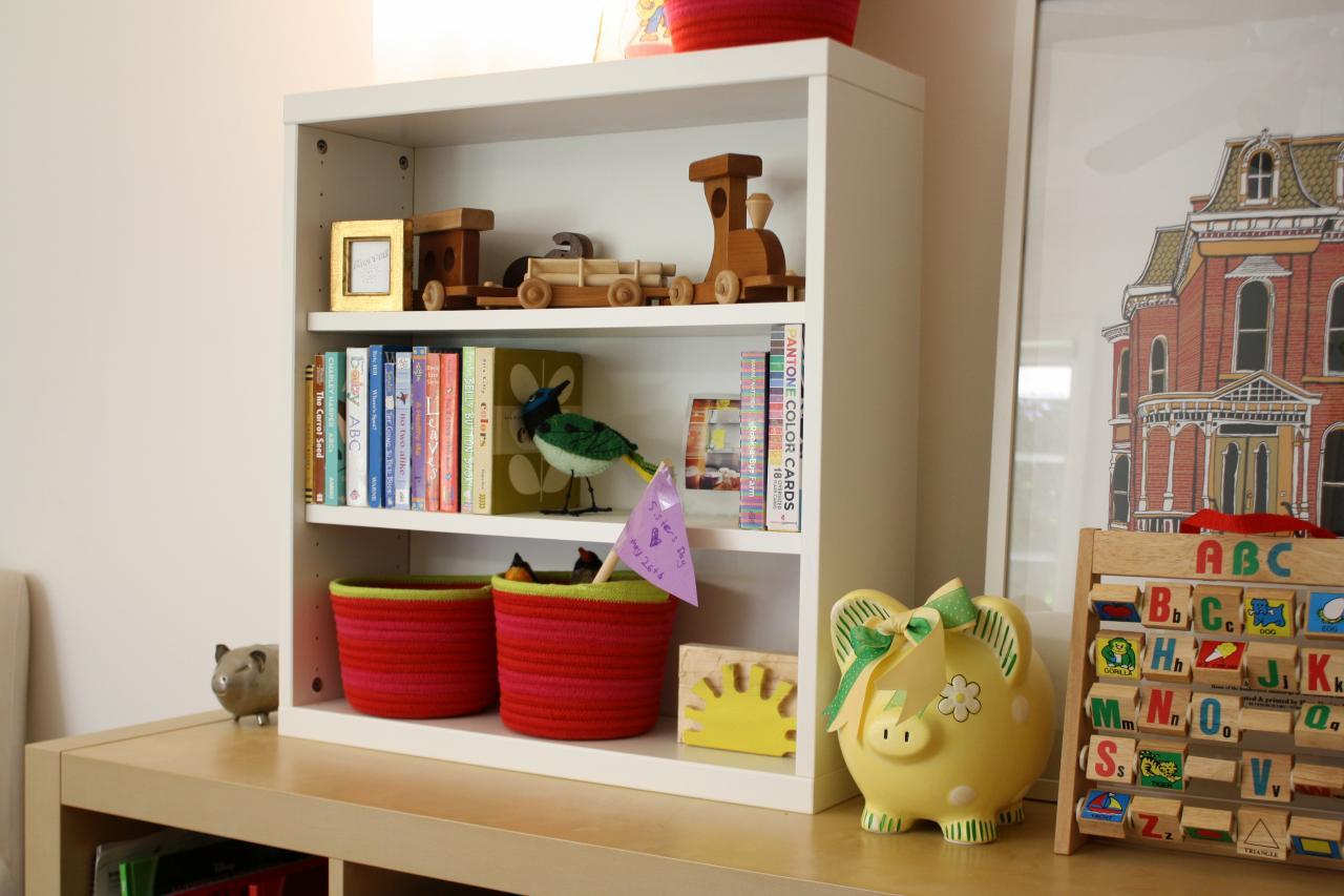 How To Decoupage Paper Onto The Back of a Shelf