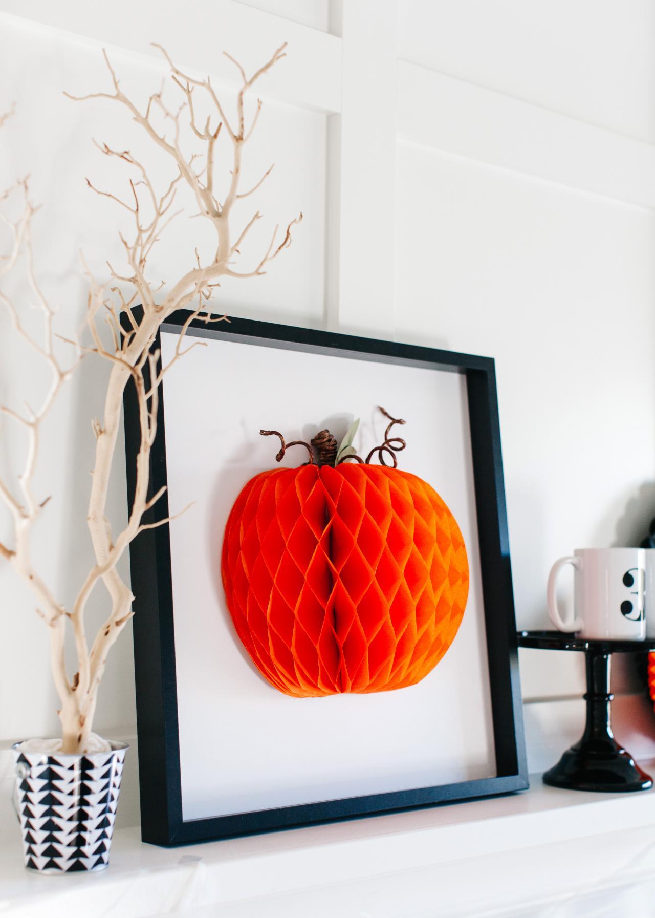 Halloween Decorating Ideas: How to Make 3D Pumpkin Art | how-tos | DIY