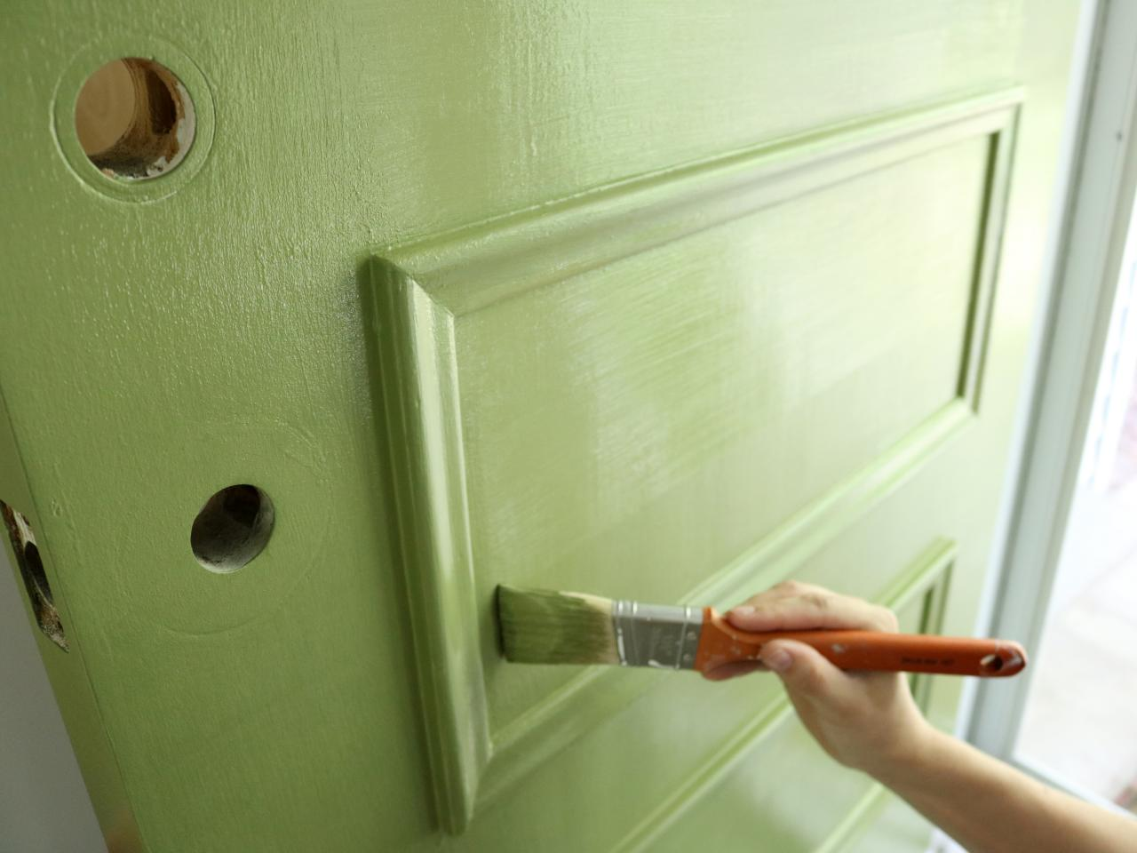 Learn How to Paint Your Front Door | how-tos | DIY