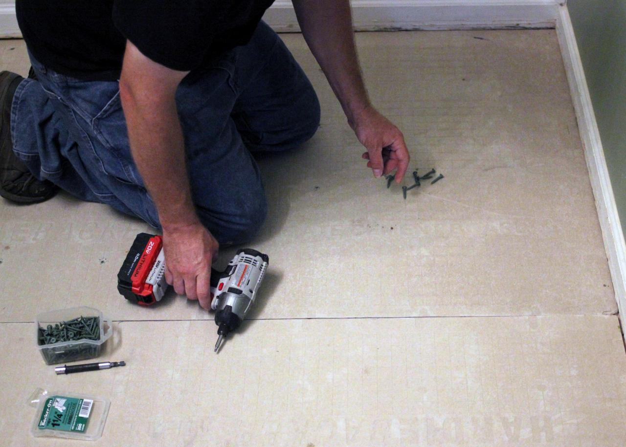 How to Install Bathroom Floor Tile | how-tos | DIY