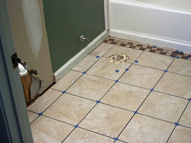 How To Install Bathroom Floor Tile Howtos DIY - Custom cut ceramic tile