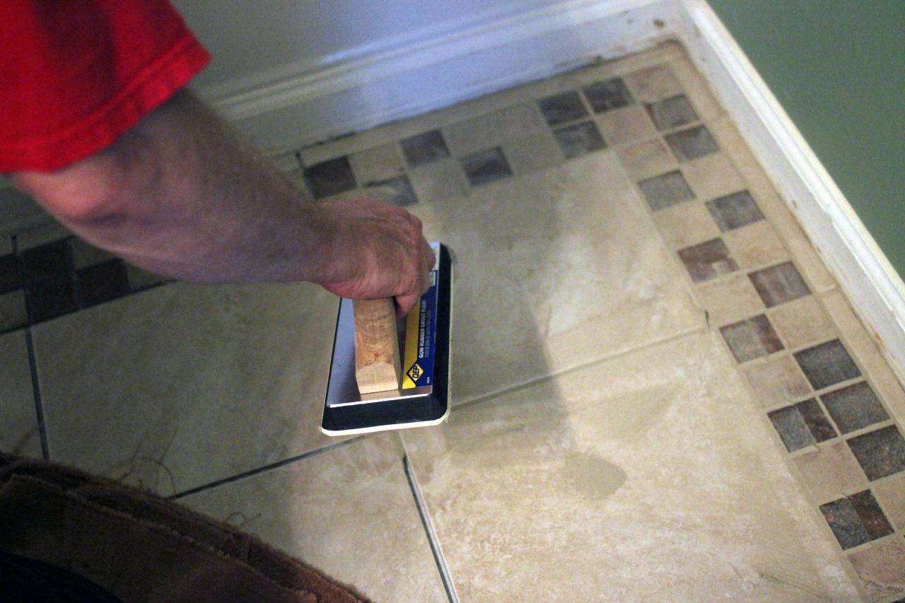 How to install bathroom floor tile how tos diy step 9 dailygadgetfo Images