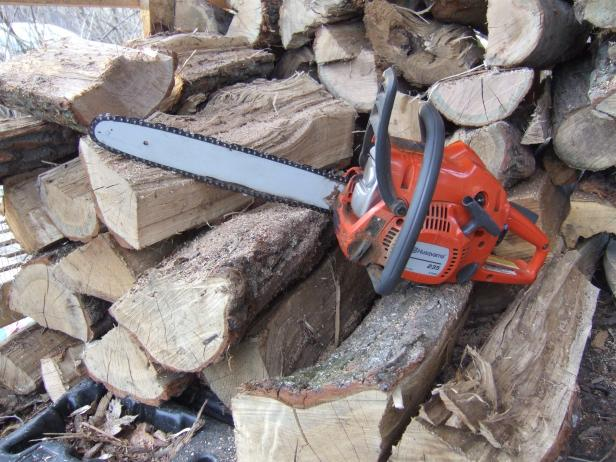 Use Chainsaw to Cut Firewood