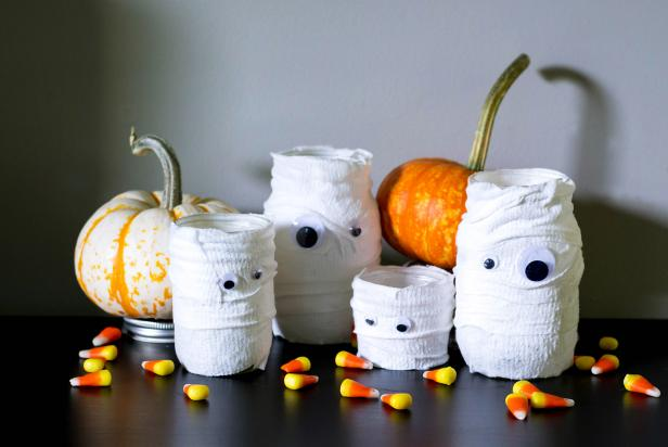 Canning Jar Mummy Luminaries Cover Daylight