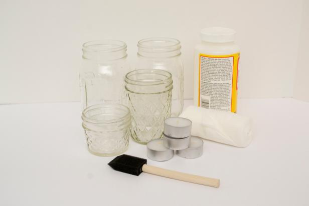 Canning Jar Mummy Luminaries-Supplies