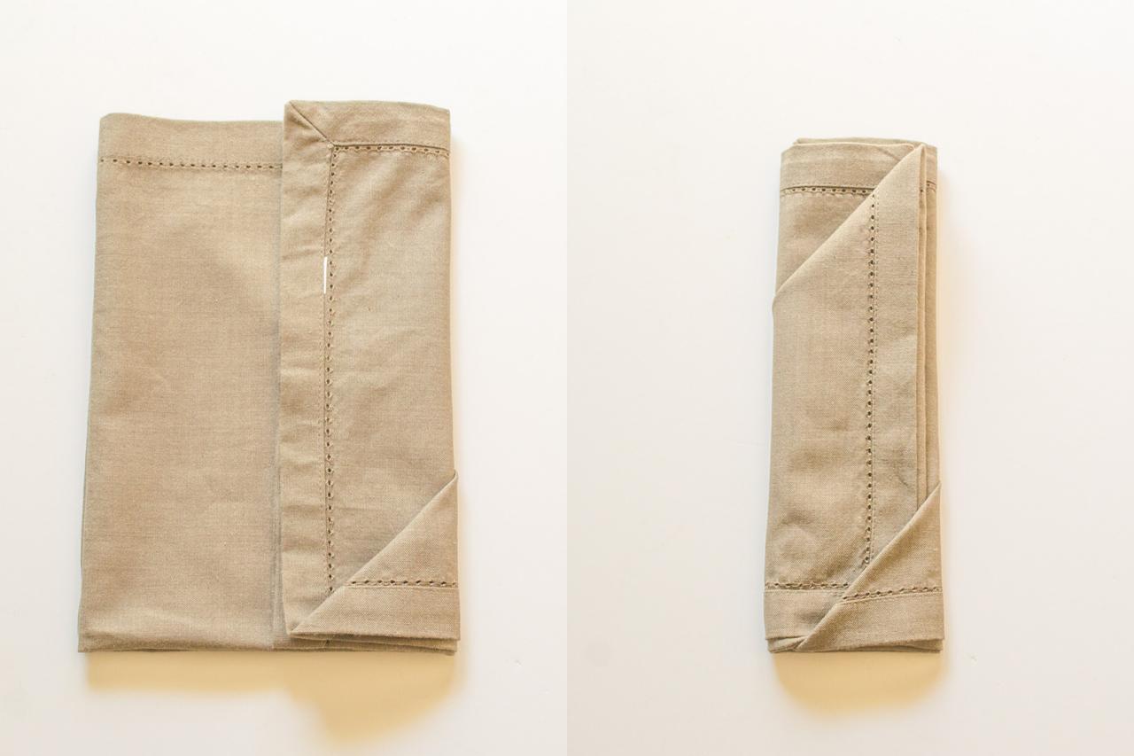 3 Simple Ways to Fold a Napkin