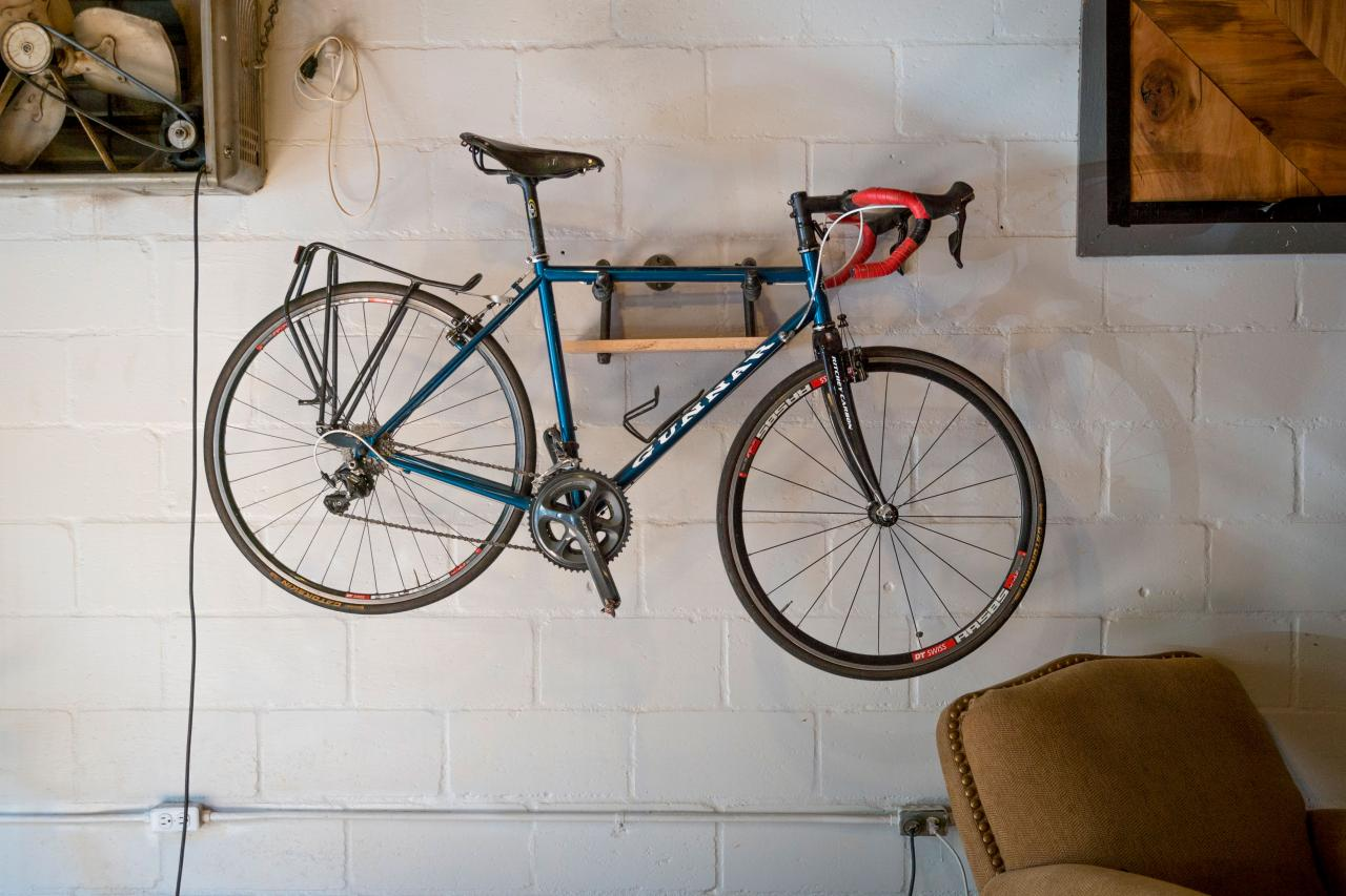 Easy DIY Industrial-Style Bike Storage Rack | DIY Network