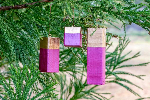 Modern Geometric Wood Ornaments