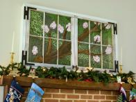 How to Use Upcycled Windows to Conceal a Wall-Mount TV