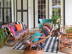 Outdoor furniture cushions can be expensive. Instead of spending the money, make these simple-sew slipcovers using sturdy beach towels.