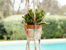 Upcycle your old T-shirts into a stylish planter.