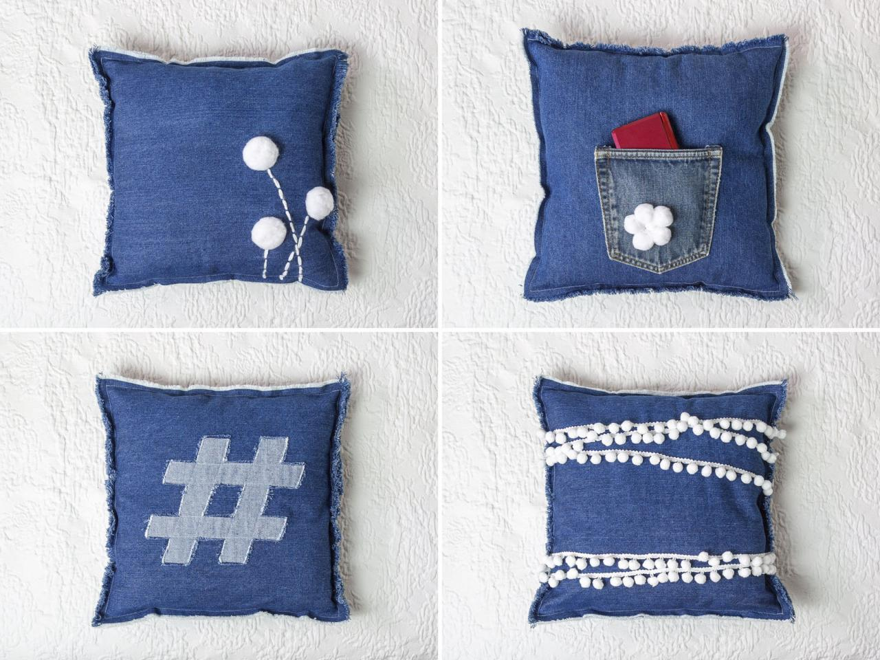 Upcycle Jeans Into Teen Bedroom Pillows Diy Network Blog