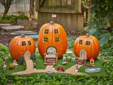 Make a miniature Halloween village for your front porch.