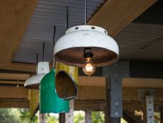 Learn how to create one-of-a-kind industrial light pendants from reclaimed gas tanks and cylinders.