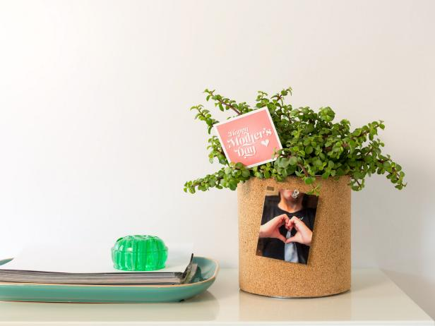 Mothers Day Cork Planter