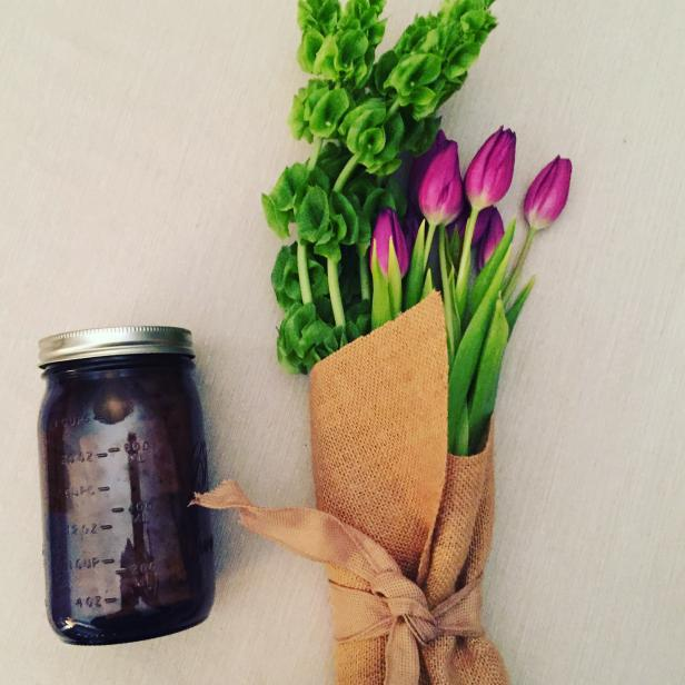 Tulips and Mason Jar Vase