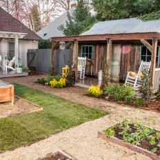 Vintage Farmhouse Backyard