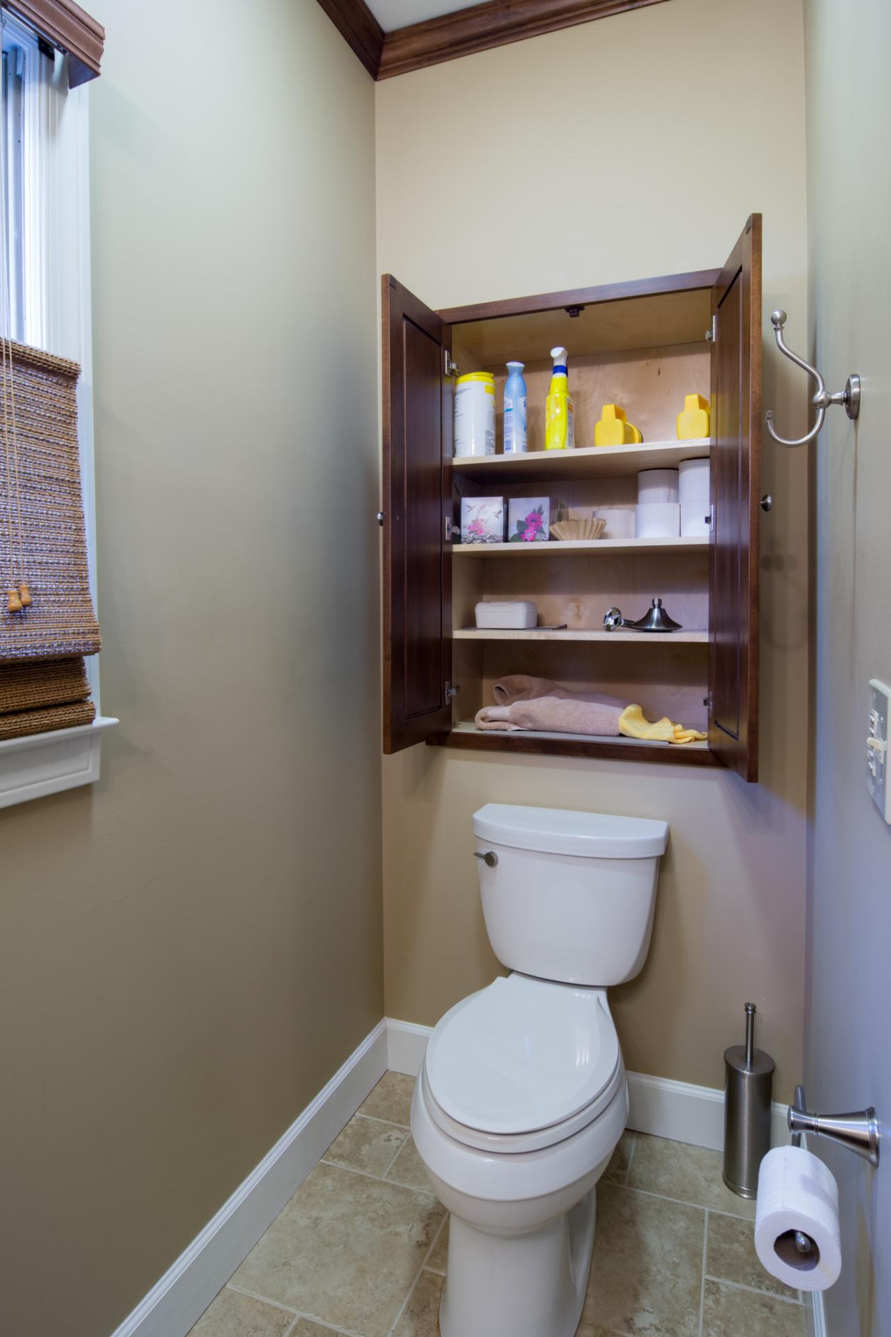 Small space bathroom storage ideas diy network blog Kitchen storage cabinets for small spaces