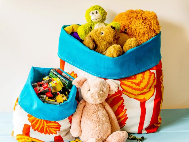 Reversible Fabric Storage Bags Are Perfect for Toys