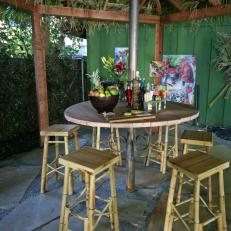 Tropical Outdoor Dining Area