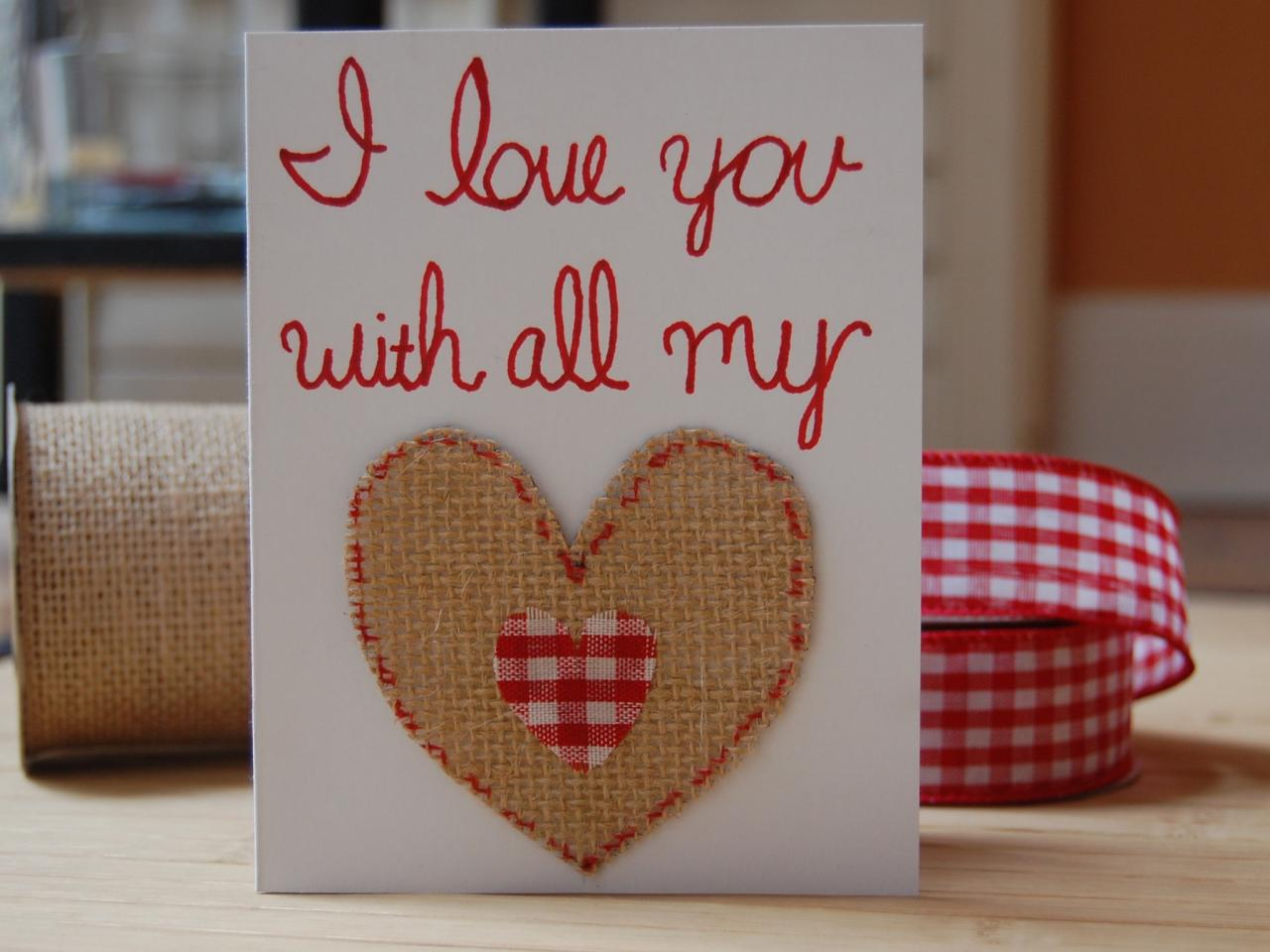 Easy homemade valentine 39 s day cards diy network blog for Homemade diy