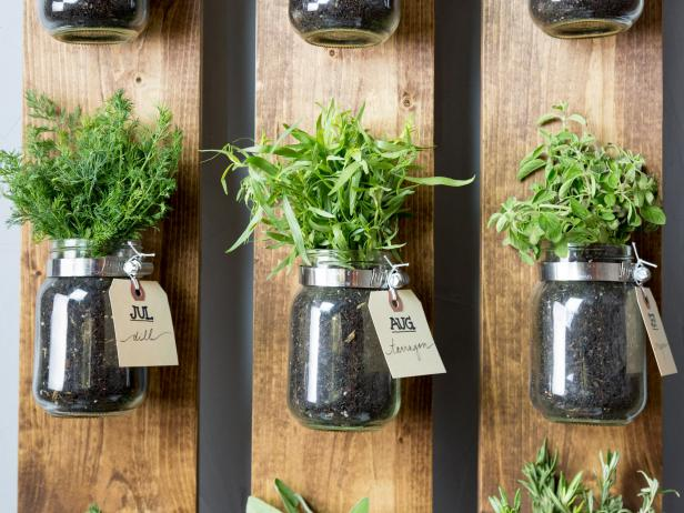 Herb rack DIY for 12 months of fresh herbs