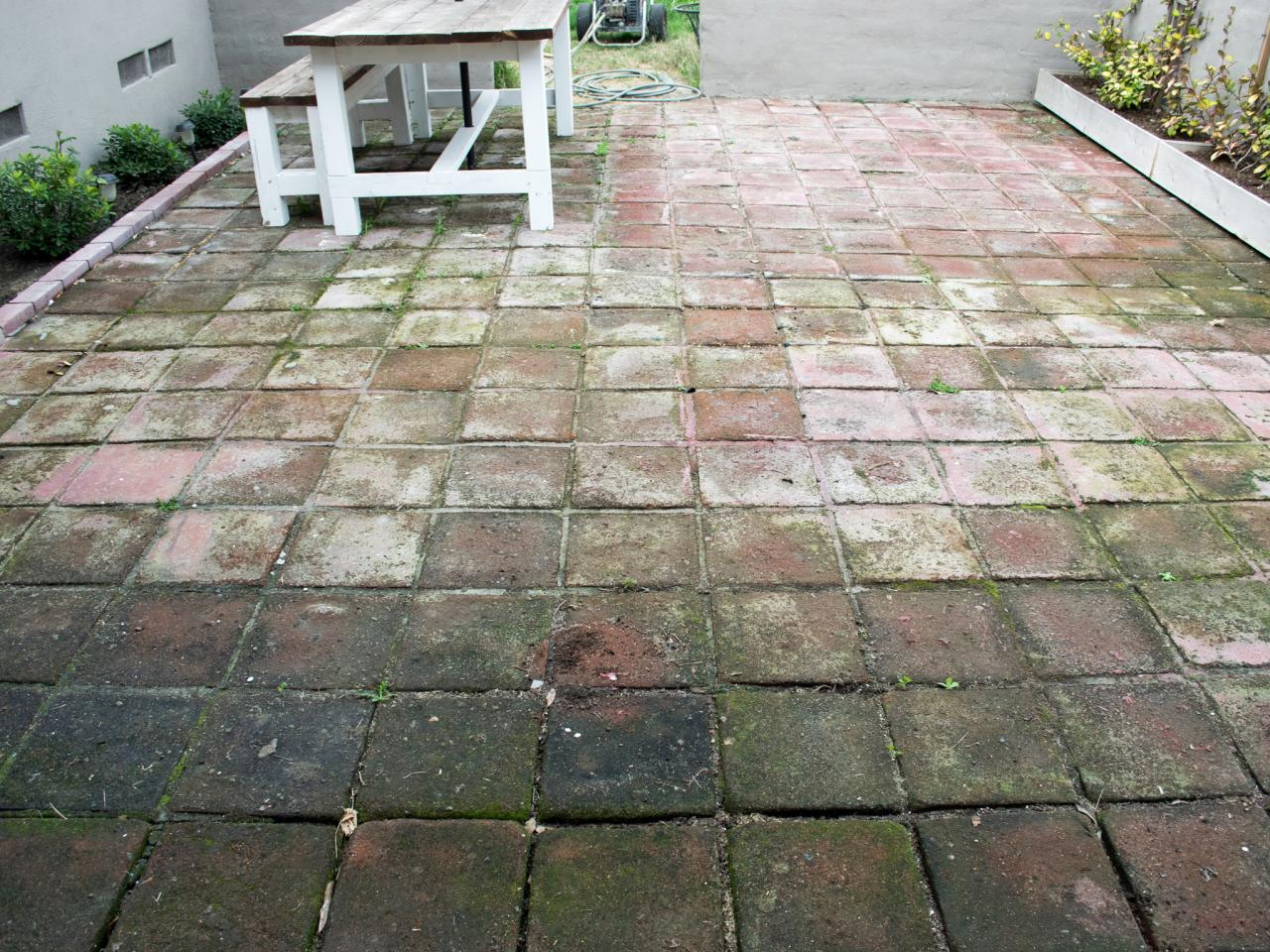 Before - How To Clean Brick And Concrete With A Pressure Washer DIY
