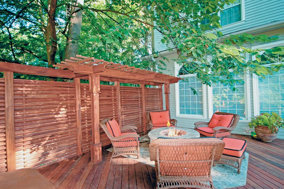 Outdoor Rooms Made From Decorative Panels