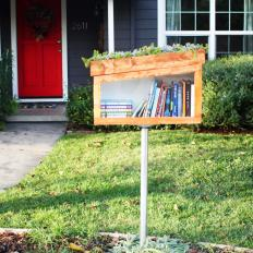 Lending Library Outside Home