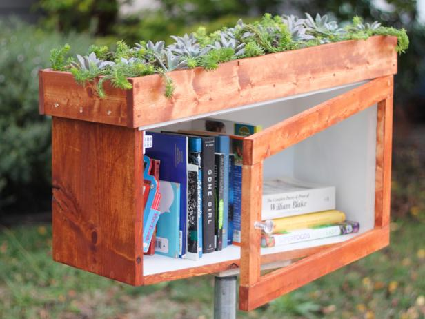 How To Build A Free Library Box With A Living Roof How