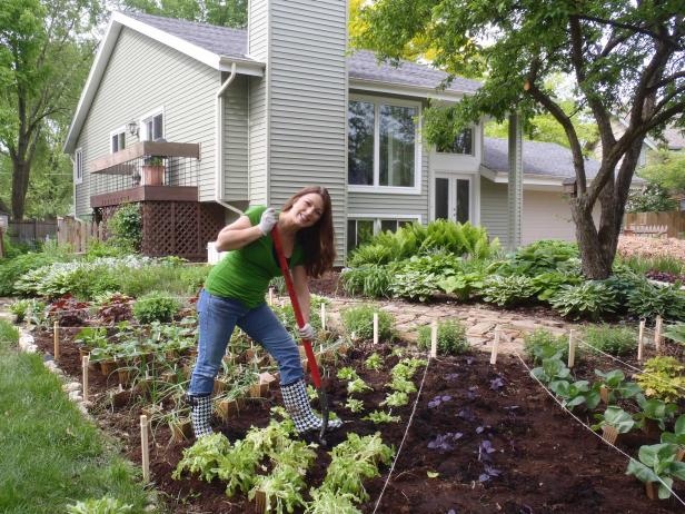 Shawna Coronado Working in the Garden