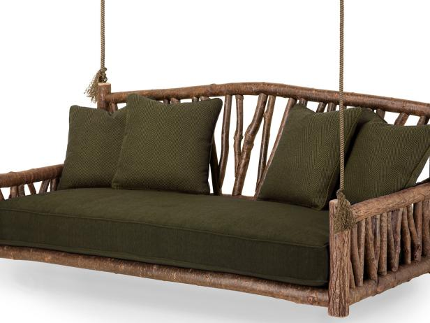 Rustic Wood Hanging Bed