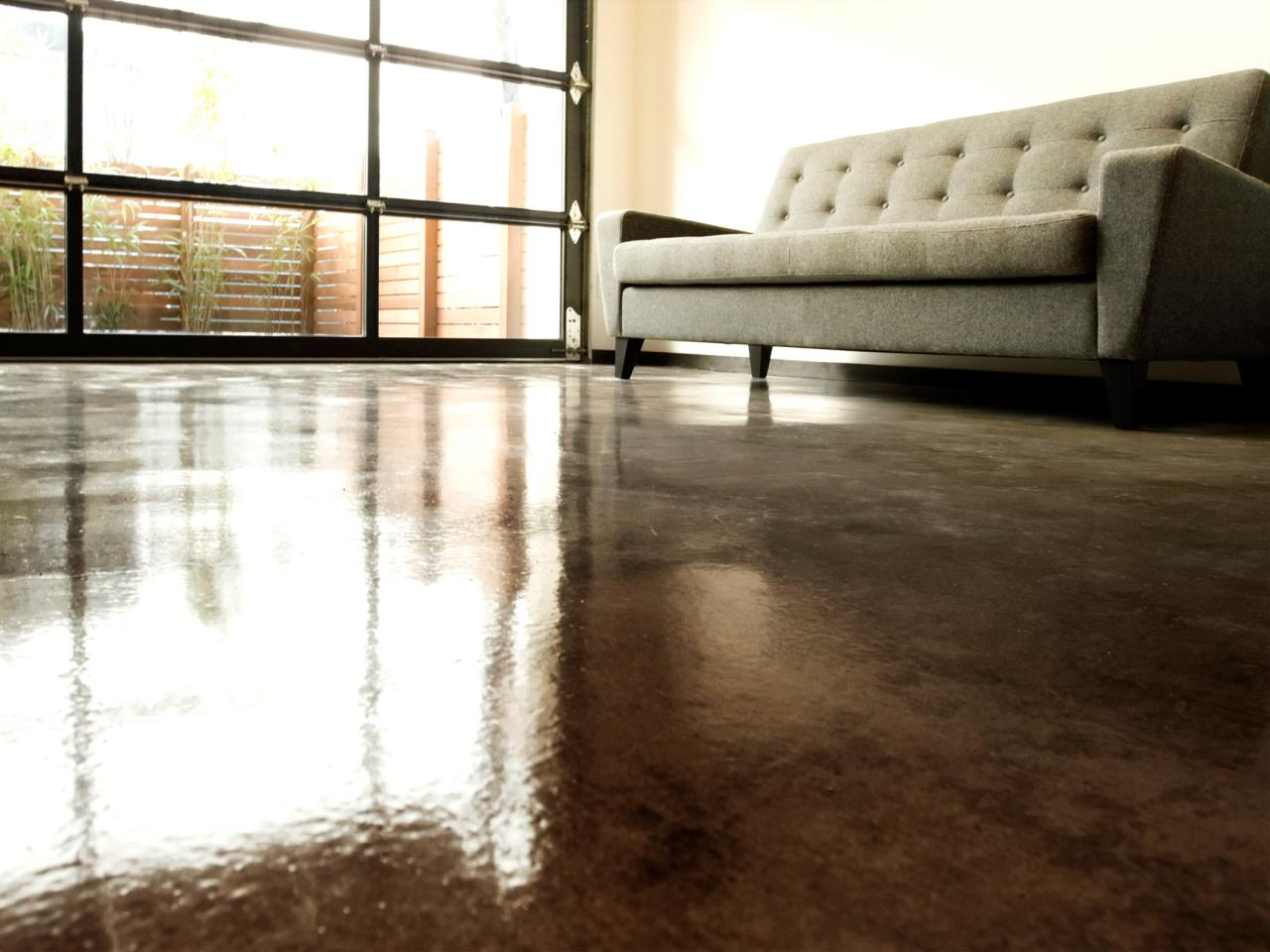 how to apply an acid stain look to concrete flooring how tos diy. Black Bedroom Furniture Sets. Home Design Ideas