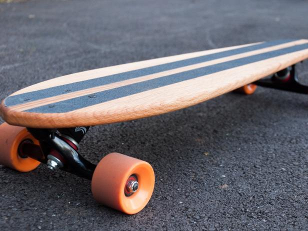 Handmade Cruiser Board made from reclaimed oak barn wood