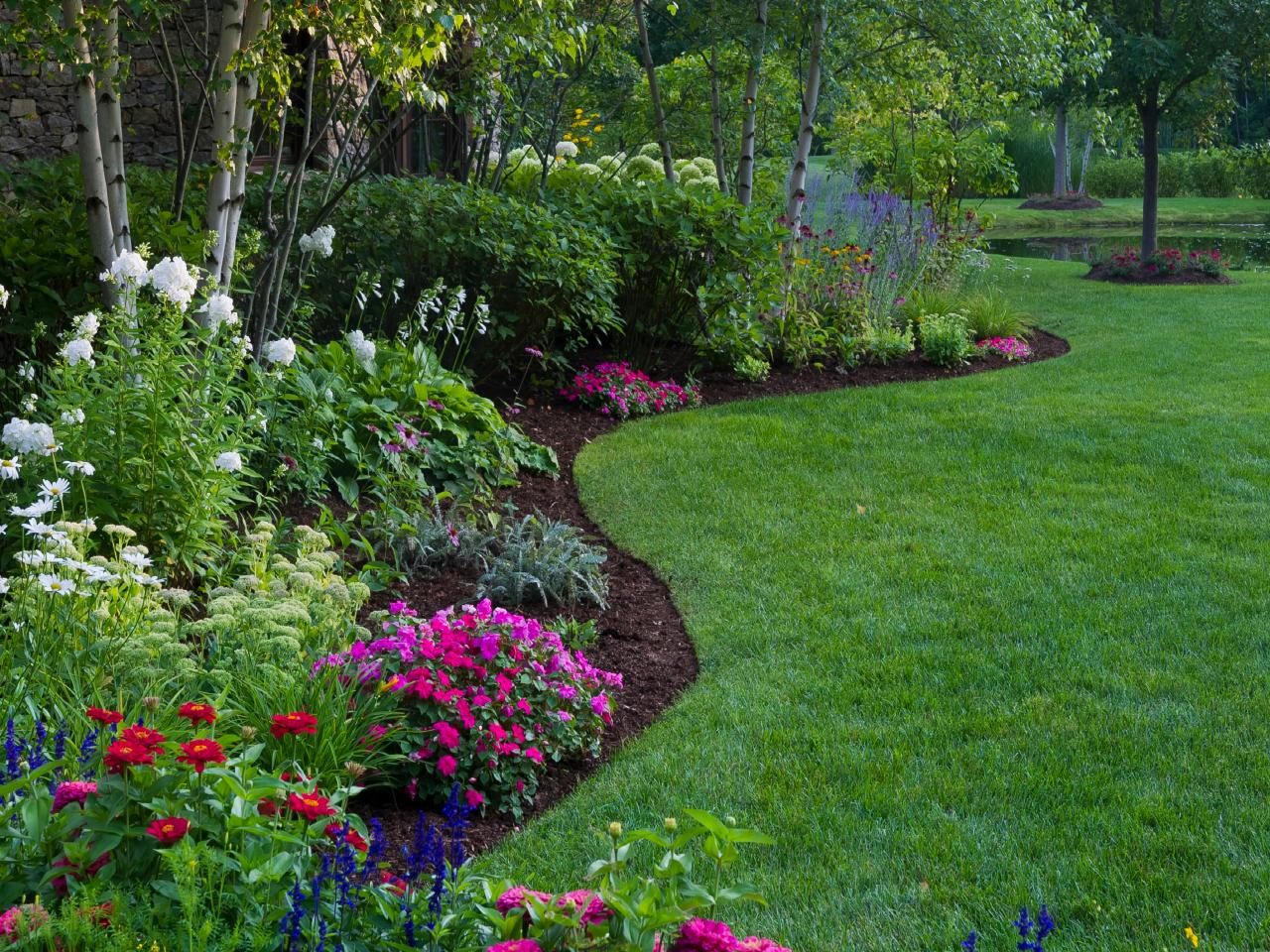 Perennial Border With Curved Edges