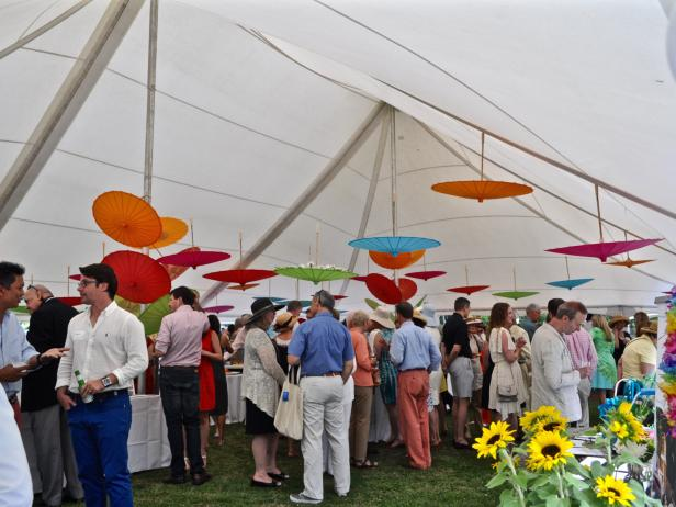 Garden Party in a Tent
