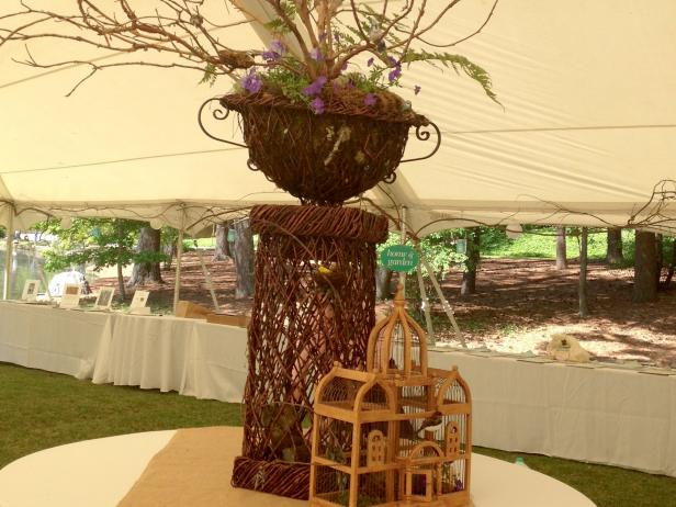 Natural Garden Party Decor with Vines