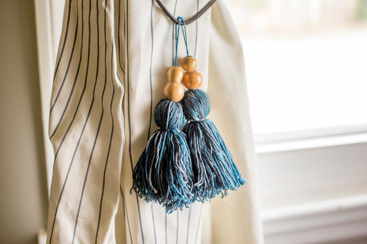 How To Make Tassel Curtain Tie Backs How Tos Diy