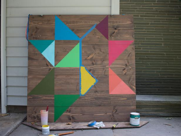 How to build and paint a colorful barn quilt.