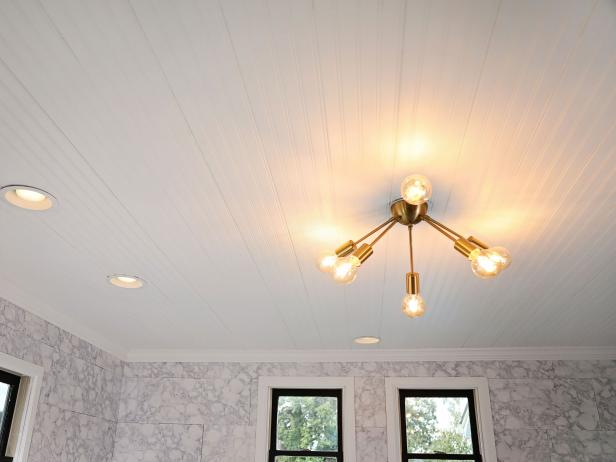 Drop Ceiling With Beadboard Paneling