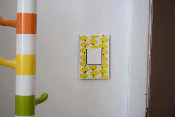 Legrand Adorne Light Switch with a custom faceplate.