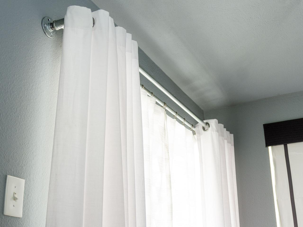 How To Make Galvanized Pipe Double Curtain Rods Hgtv