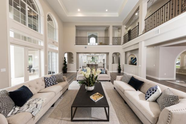 Contemporary Great Room With Neutral Color Palette
