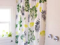 How to Use Leaves as Stamps to Make a Botanical Shower Curtain