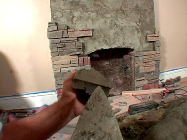 Brick To Stone Fireplace Video Diy