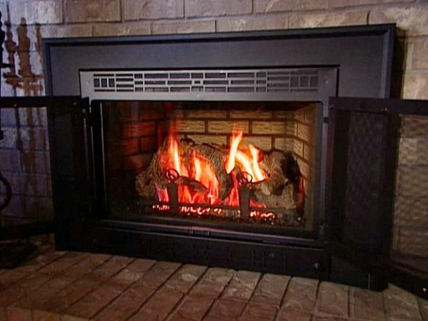 Converting a wood fireplace to gas can add warmth and value to your home.
