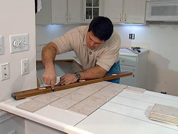 Tiling over laminate counters video diy for What kind of paint to use on kitchen cabinets for papier origamie